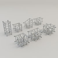 3D square truss straight corners