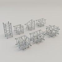 3D square truss straight corners