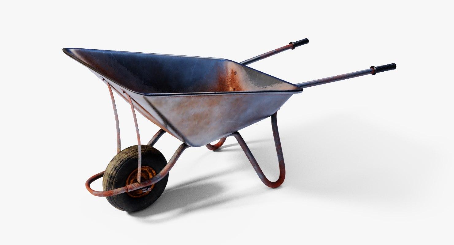 3D wheelbarrow barrow wheel