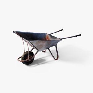 3D wheelbarrow barrow wheel