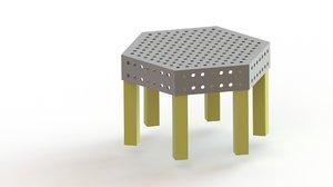 3D modelled metal decor