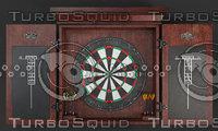 dartboard board dart 3D model