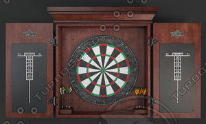 dartboard board dart 3D model