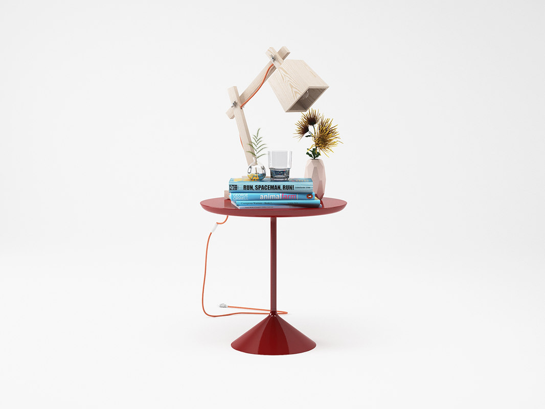 muuto wood lamp set-maxtree 3D