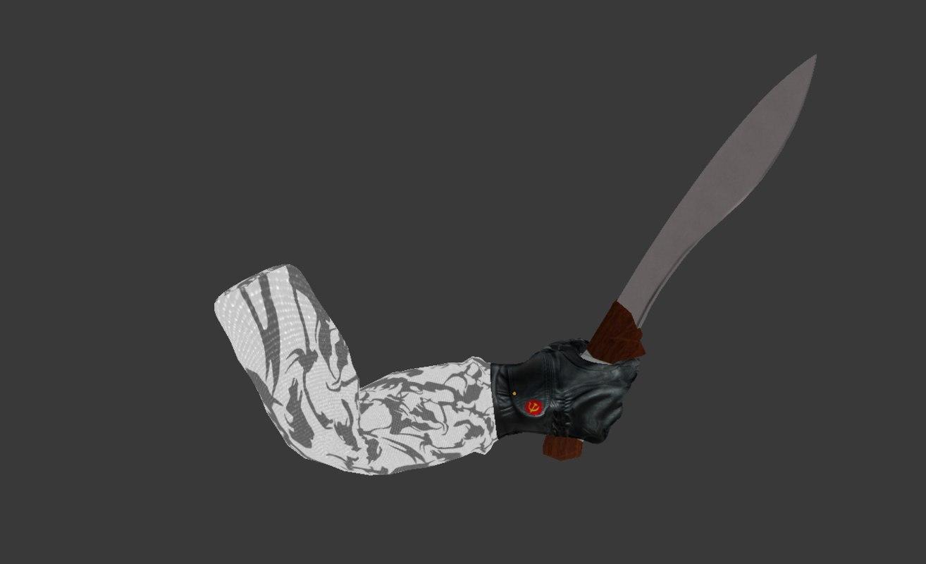 machete arm 3D model