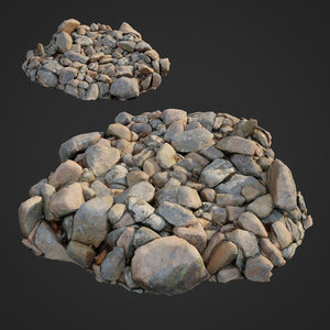3D scanned nature stone 032