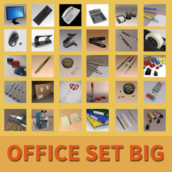 office set big 3D model