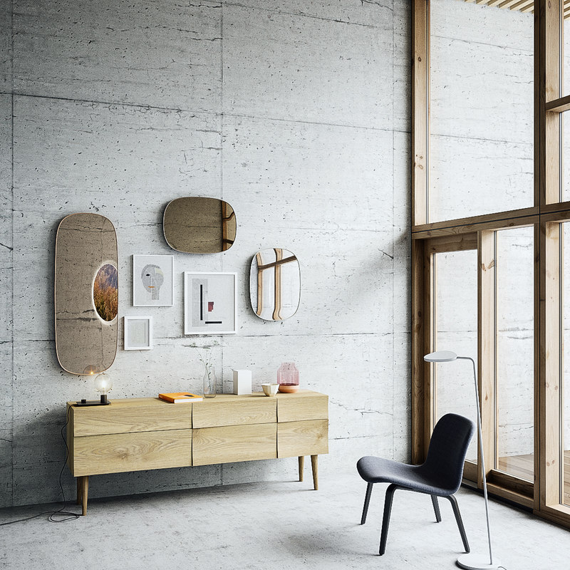 muuto mirror table set-maxtree 3D model