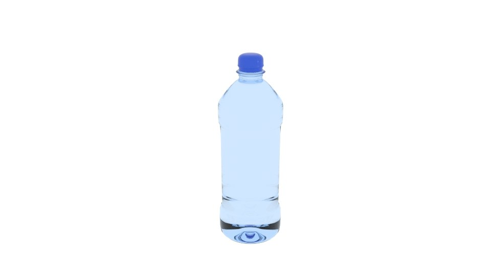 3D product water bottle