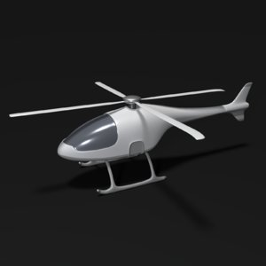 futuristic helicopter 3D model