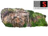 3D model madagascar cliff rock 16k