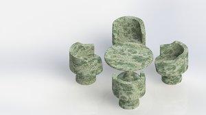 marble granite 3D model