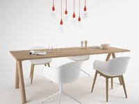 Muuto Split table set-Maxtree 3D model