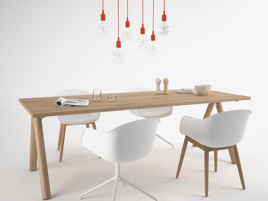 3D muuto split table set-maxtree