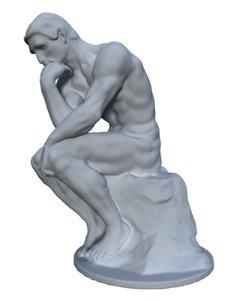 statue thinker 3D model
