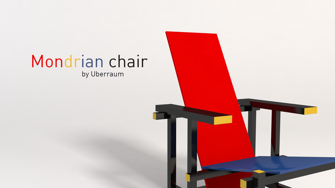 3D mondrian chair
