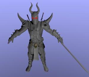 3D knight berserker model
