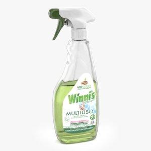 spray cleaner 3D model
