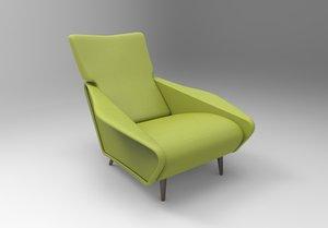 3D distex armchair gio ponti