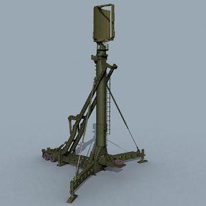 3D model soviet tin shield 40v6m