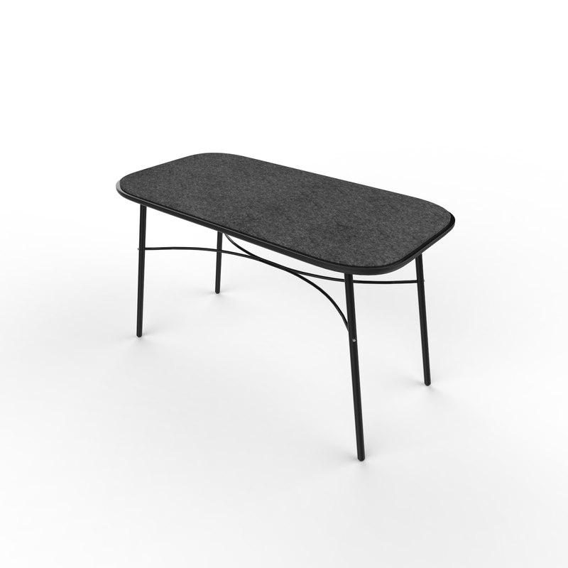 menu meet bench table 3D model