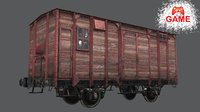 railway carriage cargo - 3D