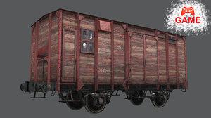 railway carriage cargo - 3D