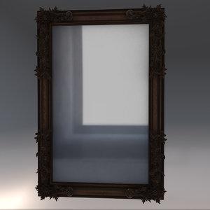 3D vintage mirror model