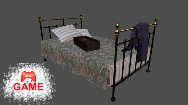 old bed stuffs - 3D model