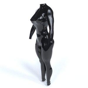 3D latex costume