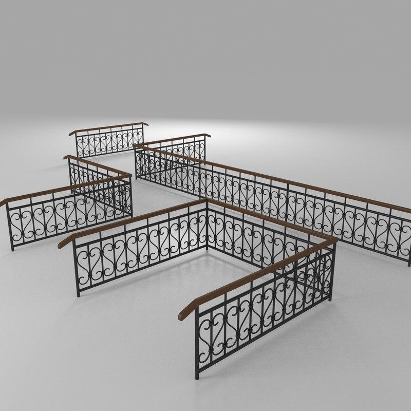 fence railings model