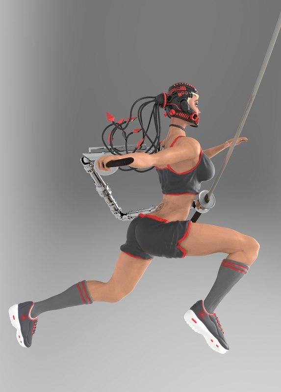 3D girl woman
