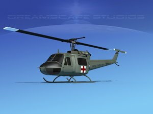 military bell uh-1b iroquois 3D