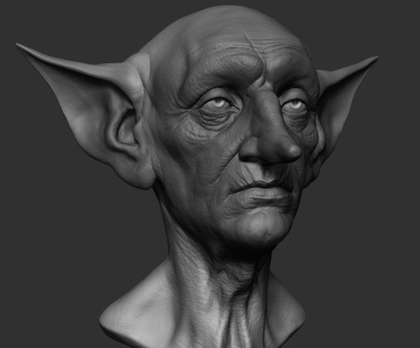 3D model creature head reference