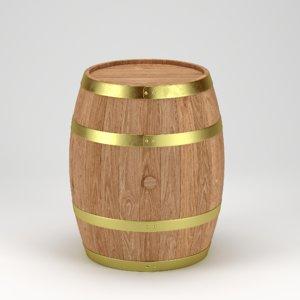 3D oak barrel model