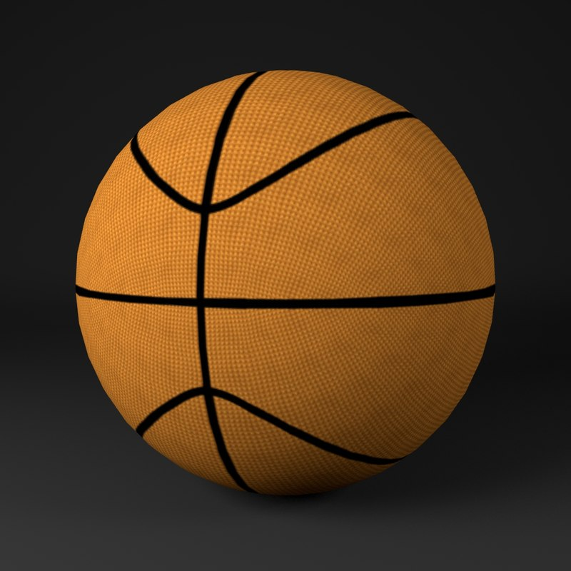 3D basketball ready model