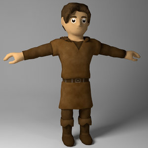 3D adventurer kid model