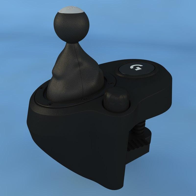 logitech g29 shifter 3D model