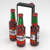 3D alcohol bottle breezer