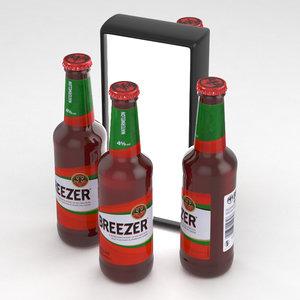3D alcohol bottle breezer