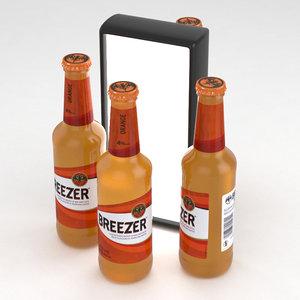 alcohol bottle breezer model