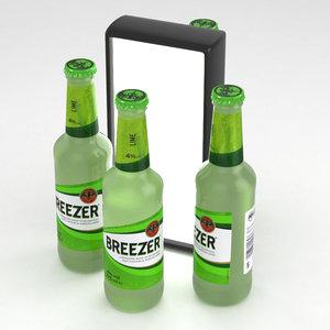alcohol bottle breezer 3D model