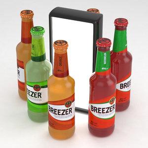 3D bottles breezer lime model