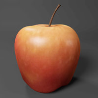 3D apple realistic model