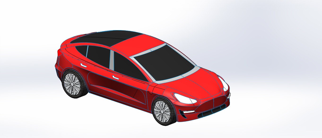 3D car tesla sport