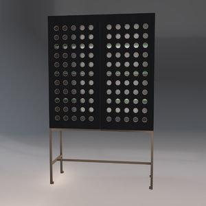 3D minimalistic cabinet model