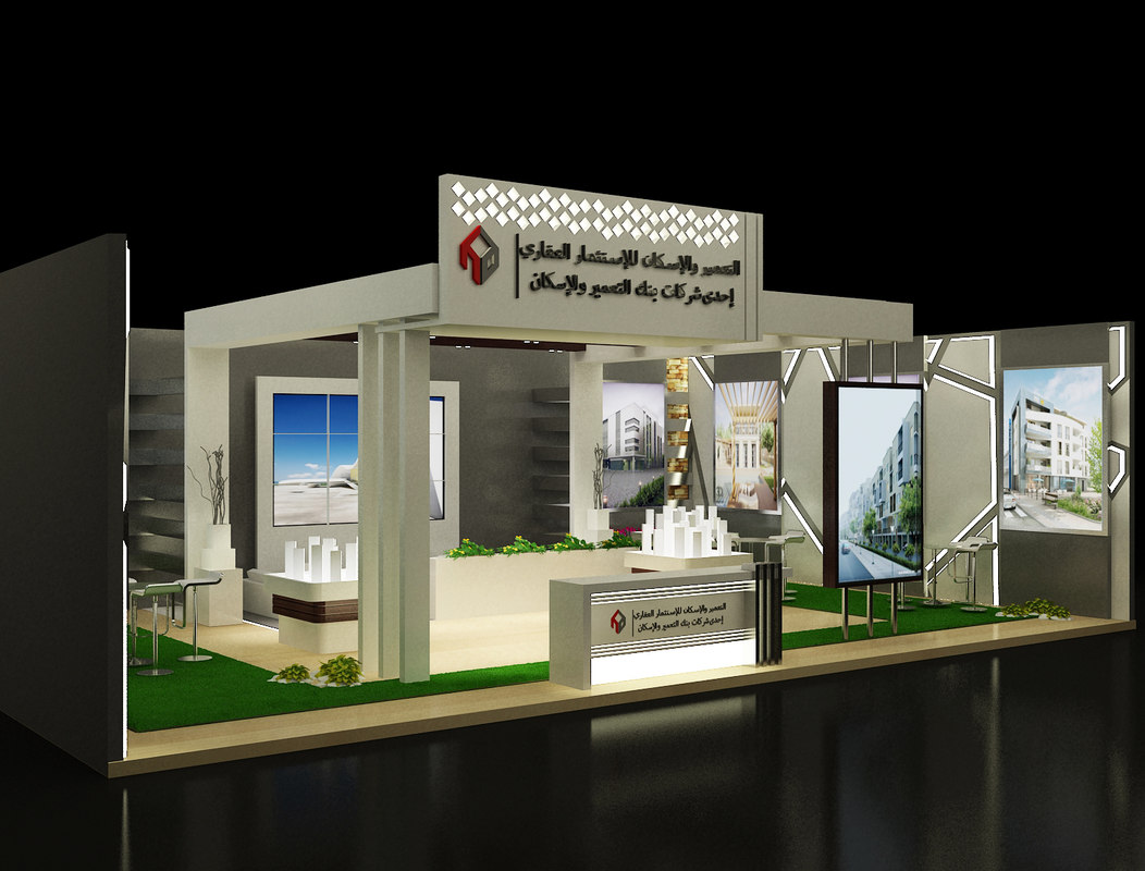 Exhibition Stand Models : D model stand exhibition booth turbosquid