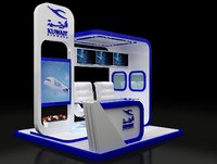 kiosk partition booth 3D