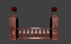 architectural balustrade - 5 3D model