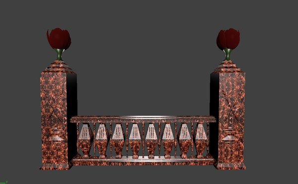architectural balustrade - 5 3D model